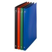Classeur 4 anneaux plastique Budget A4 - Dos 2 cm couleurs assorties opaques