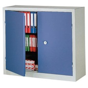 Industrieller Schrank grau - blau H 100 x B 100 x T 53 cm