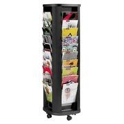 Présentoir mobile colonne 40 cases noir