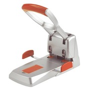 Perforateur gros travaux 2 trous Duax Rapid - capacité 150 feuilles - gris argent/orange