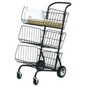 Cart for mail Alba metal lacquered black
