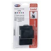 Cassette d'encrage Metal Line 6/56 Trodat - Lot de 3 noir