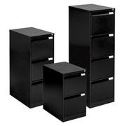 Classeur monobloc 3 tiroirs noir H 102cm