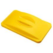 Gelber Deckel für Kunststoff-Mülleimer Slim Jim
