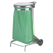 Mobile waste bag holder 50 l Rossignol with pedal colour grey