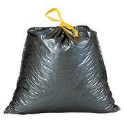 Sac poubelle 100 litres à liens coulissants gris  - 100 sacs