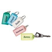 Porte-clés couleurs assorties translucides - Boîte de 50