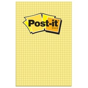 Bloc-notes jaune quadrillé Post-It 102 x 152 mm - bloc de 100 feuilles
