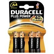 Alkalinebatterij AA - LR6 Duracell Plus Power -Blister van 4
