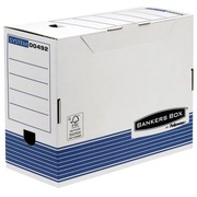 Filing boxes with back of 15 cm white and blue