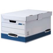 Caisse archives carton Bankers box by Fellowes Flip top maxi H 31 x L 56 x P 39 cm bleue