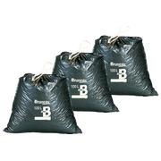 Set 2 x 100 vuilniszakken 100 liter Bruneau met stropsluiting + 1 gratis