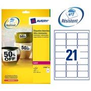 Pack 420 äußerst starke Etikette Avery L 7060 63,5 x 38,1 mm weiß für Laserdrucker