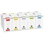 Boîte archives carton Bruneau dos 10 cm couleurs assorties