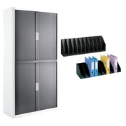 Pack armoire Easy Office anthracite avec 2 trieurs verticaux offerts