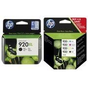 HP 920XL, pack 2 cartouches noire + 3 cartouches couleur haute capacité pour imprimante jet d'encre