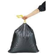 Sac poubelle 50 litres à liens coulissants gris - 100 sacs