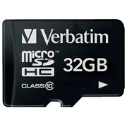 Verbatim - carte mémoire flash - 32 Go - microSDHC
