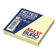 Herkleefbare notes geel Maxiburo formaat 75 x 75 mm