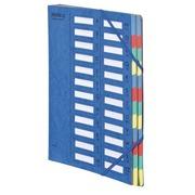 Sorteermap Extendos met vensters 24 verdelingen blauw