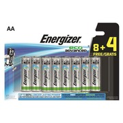 Blister 8 + 4 batterijen Energizer Eco Advanced