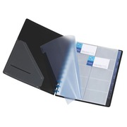 Holder for business cards Viquel Geode polypropylene 21 x 29,7 cm black - 400 cards