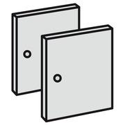 Set met 2 volle deuren voor Maxicube Color zwart