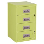 Monobloc filing cabinet Budget 4 drawers anise green