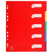 Register DIN A4 Maxi aus festem PP 350µ, blanko, 5-teilig