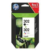 HP 302 pack cartridges black + colors for inkjet printer