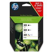 HP 301 Pack 2 cartouches noire + cartouche couleurs pour imprimante jet d'encre
