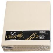 Serviette de table ivoire non tissé 40 x 40 cm - Lot de 50
