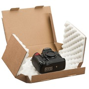 Shipping box with foam stuffing 24 x 18 x 8 cm