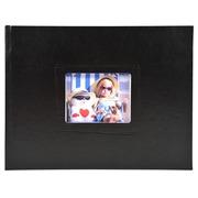 Fotoalbum gebunden 30 mit weißen Seiten Softissimo - 28,5x22 cm - Schwarz (11320E)