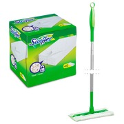 Pack Swiffer Besen Kit + 1 Box von  40 Swiffer Boden Staubtüchern