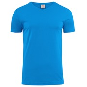 Printer Heavy V t-shirt Blauw 4XL