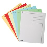 FOREVER® Pak van 100 bedrukte dossiermappen 280g/m² met 1 cm overslag - 24x32cm voor A4 - Lichtblauw (441006E)
