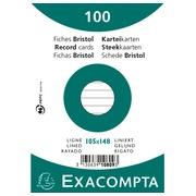 Paquet 100 fiches sous film - ligné non perforé - 105x148mm