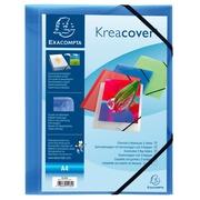 Chemise à élastiques 3 rabats polypropylène opaque Krea Cover - A4.