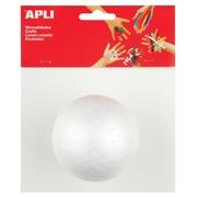 Apli boule en polystyrène, diamètre 80 mm, blister de 1 pièce