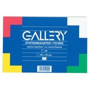 Gallery gekleurde systeemkaarten, ft 10 x 15 cm, gelijnd, pak van 100 stuks