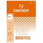 Canson bloc de dessin Bristol ft 29,7 x 42 cm (A3)