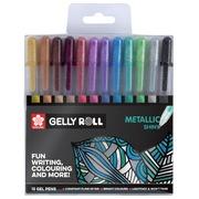 Sakura roller Gelly Roll Metallic, etui met 12 stuks in geassorteerde kleuren