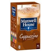 Sticks Löslicher Kaffee Maxwell House Cappuccino - Schachtel von 10