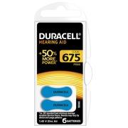 Blister 6 piles Duracell pour Appareil Auditif type 675