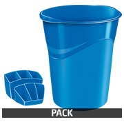 Pack paper basket + pencil holder Cep Gloss blue
