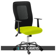 Pack office chair SEATTLE green -  1 + 1 free
