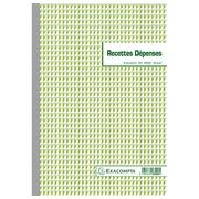 Manifold Auto Einnahmen/Ausgaben Exacompta A4 50 Blatt doppelte Exemplare