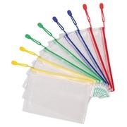Tarifold pochette à zip, ft A5, paquet de 8 pièces en couleurs assorties