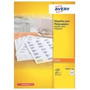 Avery 23521-200 étiquettes pour photocopieur ft 70 x 37 mm (b x h), 4800 étiquettes, blanc